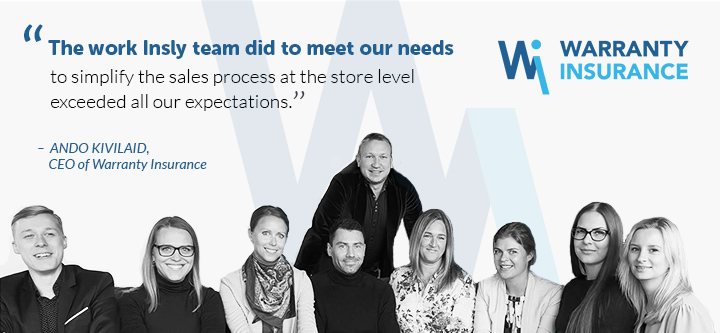 Customer Story: Warranty Insurance launched an innovative B2C insurance product for a leading electronics retailer, dealer and manufacturer based on Insly solution